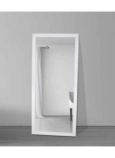 Chic Life Chic Life Dekoratif Boy Aynası - Beyaz Çerçeve Beyaz